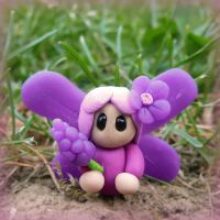 FIMO flower fairy by ugnip
