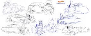 Hot Wheels design sketches by candyrod