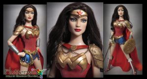 Warrior Wonder Woman Custom Doll by ShannonCraven