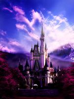 Cinderella Castle in nature by creativecyclops