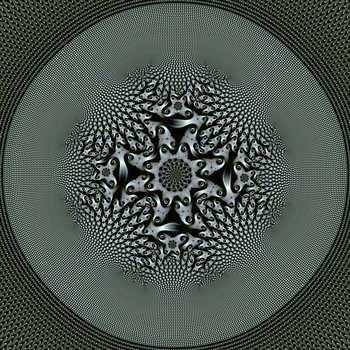 Elephant spiral tiling with central transformation by DinkydauSet