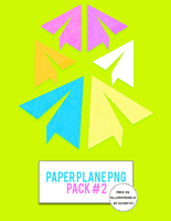 Paper Plane Pack #2 by AlleakiMikaela