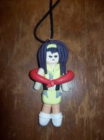 Cowboy Bebop Faye Valentine Polymer Clay Charm by SommerBommer