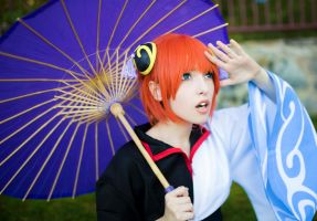Kagura with Gintoki Costume by DEATHNOTE---L
