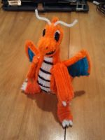 Pipe Cleaner Dragonite Front by FangirlOfArtsyness