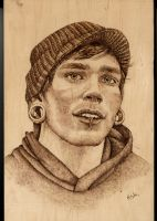 Gabriel - woodburning by Eskarine