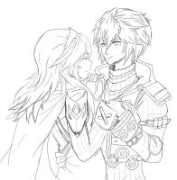 Lucina and Shulk by JackieCruise69