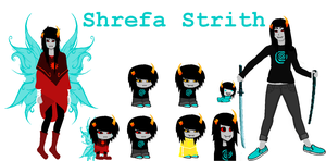 Shrefa Strith ~ Homestuck OC by BadLuckKat