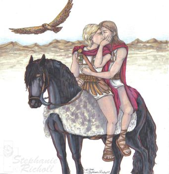 Alexander and Hephaestion by tronnie