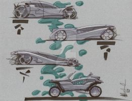 Concept car side views by Jepray