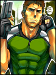 Tegaki ART + CHRIS REDFIELD + by BoGilliam