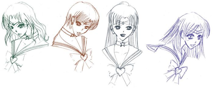 sailor moon: sailor outers by woeh