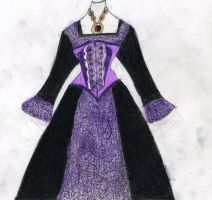 Raven's dress design by LadyFang