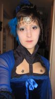 Secondary look at blue star spider web makeup set by Arachnoid