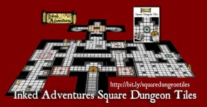 Square Dungeon Tile map mock-up by billiambabble