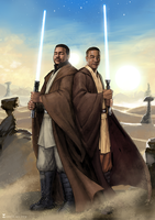 Commission: Jedi Knights by SoniaMatas