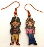 Mork and Mindy earrings by Lovelyruthie