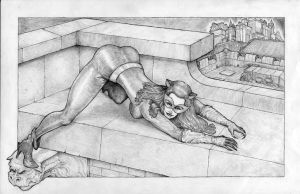 Lee Meriweather Catwoman - Pencil by Cauldron03