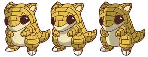 Pokemon 27 - Sandshrew by Filecreation