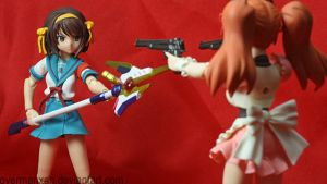 Mikuru vs Haruhi Breaker by OvermanXAN