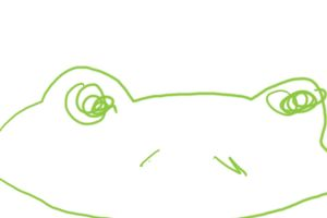 Frog drawing closed eyes by ciscotjuh