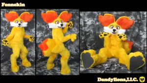 Fennekin Full Suit by DandylionsLLC