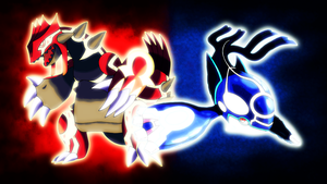 Primal Groudon and Primal Kyogre Wallpaper by Glench