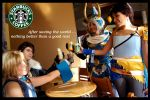 Dissidia in Starbucks by alsquall