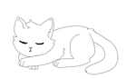 Free to use: Sleeping cat base ( MS Friendly) by GumeKande