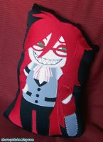 Grell Flat Doll Pillow by shiroiyukiko