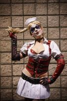 Twirly hair Arkham Harley by miss-kitty-j