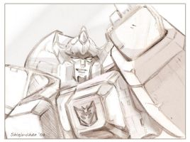 TF - Decepticon bada-s pencils by Shinjuchan