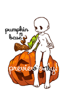 pumpkin adoptable base (open) by tenchibaka