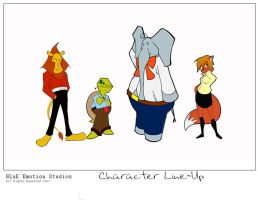 Character Line-Up by Syros