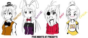 Five Nights At Freddy's Personafication by keramatzmode