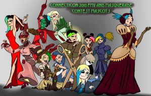 ConnectiCon Video Mascots by virgiliArt