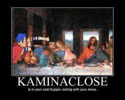 Kamina at the last supper by notanotherzombie