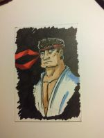 Ryu Sketch Card by Kmadden2004