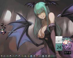 Desktop Morrigan by Manidola
