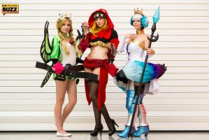 Mercedes, Velvet and Gwendolyn - Odin Sphere by Paper-Cube