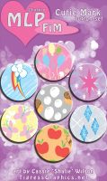 Button Set: MLP Cutie Marks by Shalie