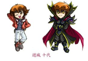 Judai And Supreme King by cyberempire
