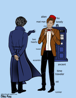 Sherlock and his Doctor by ChloeWho