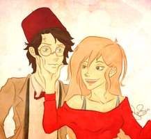 Harry and Ginny Halloween by PixelatedLocket