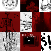 15 Red and White Textures Set 09 by Butterphil
