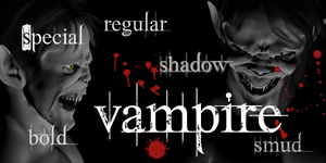 Vampire Font by yourenemy