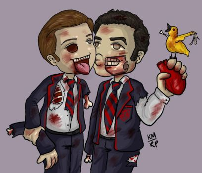 Zombie Klaine by iluvbsbkevin