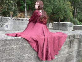Eli Red Dress Godess 8 by Gracies-Stock