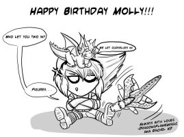 Happy BDay MOLLY by DragonsFlameMagic