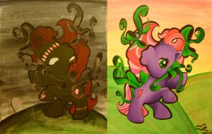good and evil ponies by irishbxtch